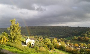 Rainbow near Monkton Combe