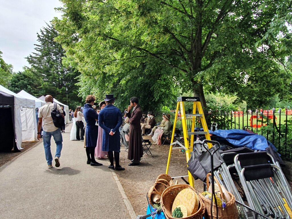 Filming Persuasion on location in Bath