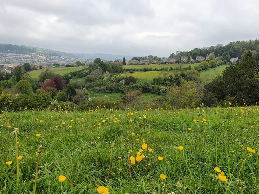View from Widcombe Hill across Smallcombe Vale