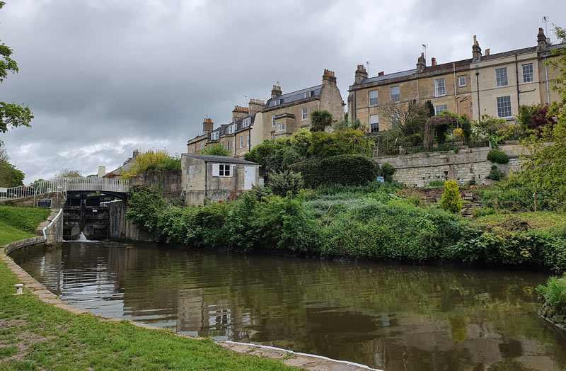 Canal footbridge, Widcombe, Bath
