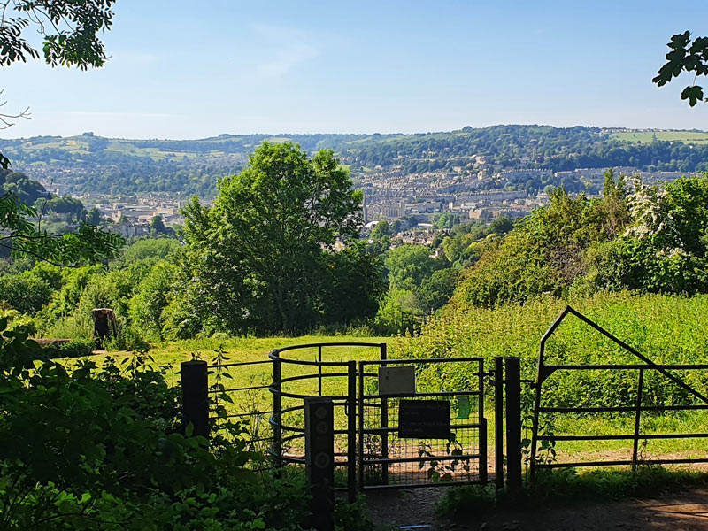 Gate with views of Bath