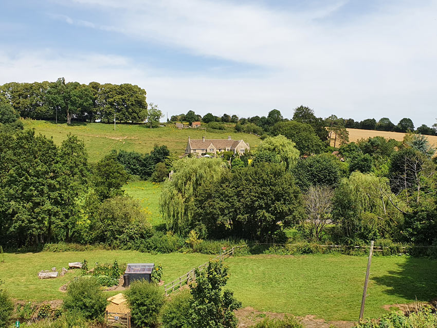 Farleigh Hungerford: the view from the castle ruins