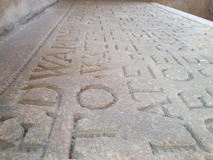 Farleigh Hungerford Castle chapel - tomb inscription