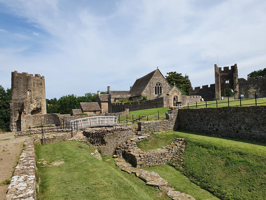 Inside the walls of Farleigh Hungerford Castle